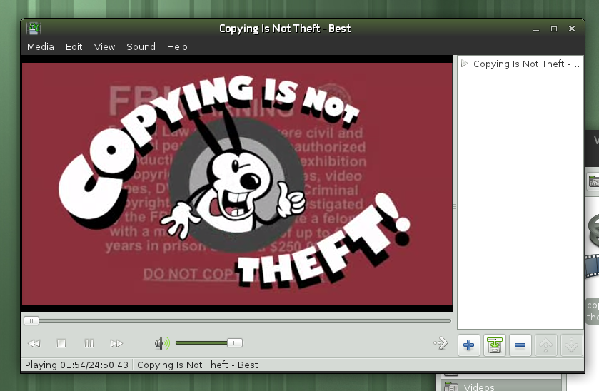 copying is NOT theft!