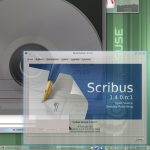 Scribus 1.4 RC1 in openSUSE RC2