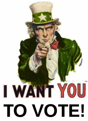 I want you to vote (green)