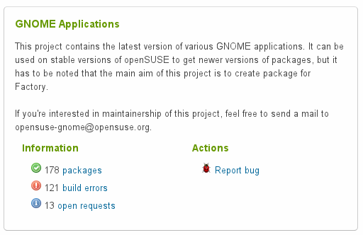 gnome project page
