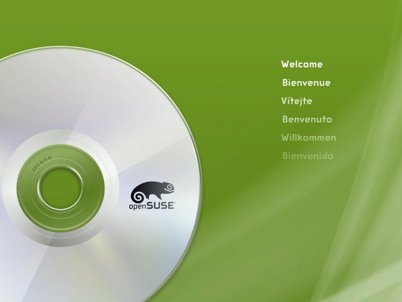 openSUSE 12.1 Schermata iniziale
