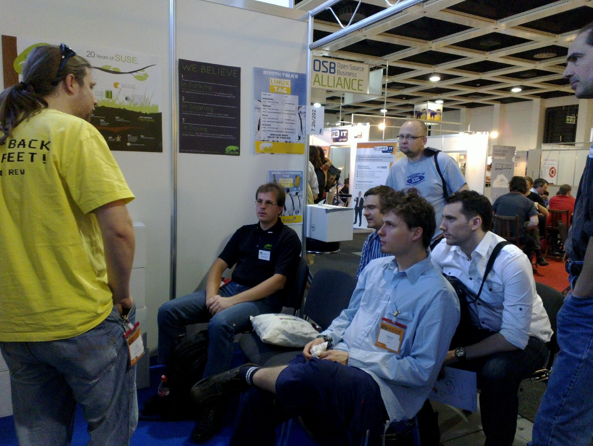 booth talk at openSUSE Booth