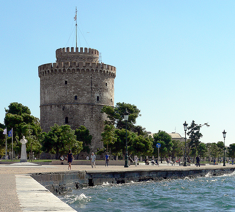 Thessaloniki White Tower and promanade
