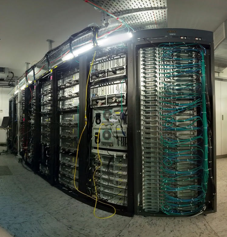 All the racks of the OBS reference server