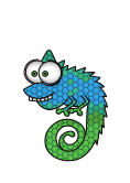 vector chameleon