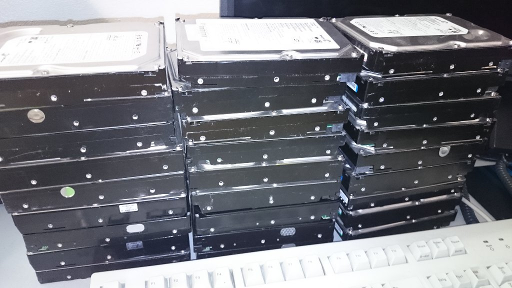Old hard-drives from OBS-workers